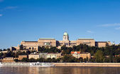 Panorama of the Castle of Buda in Budapest — Stockfoto