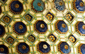 The wonderful ceiling of 'Varkert' bazaar in Budapest 2 — Stok fotoğraf