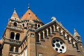 Detail of cathedral in Szeged, Hungary — Foto Stock
