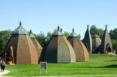 Hungarian yurta museum in Opusztaszer, Hungary — Photo