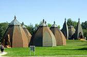 Opusztaszer、ハンガリーでハンガリーの yurta 博物館 — ストック写真
