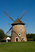 Old windmill in Opusztaszer, Hungary — Stock Photo