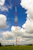 Radio antenna tower — Stock Photo