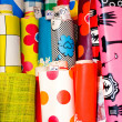 Textile and oilcloth rolls — Stock Photo