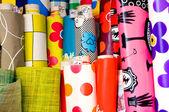 Rollos de textil y hule — Foto de Stock