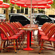 Cafe terrace in Paris — Stock fotografie #10426292