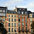Houses of Place Dauphine in Paris — Zdjęcie stockowe