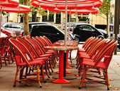 Cafe terrace in Paris — Stock fotografie