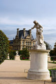 In the garden of Tuileries opposit of the Louvre — Stock Photo
