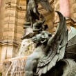 Detail of the Saint Michel fountain in Paris 1 — Stok fotoğraf