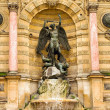 Saint Michel fountain in Paris — Stock Photo