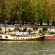 Ships at the river Seine — Stock Photo