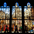 Stained glass window of the church Saint Etienne in Paris — Stock Photo #10491445
