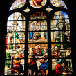 Stained glass window of Saint Etienne church in Paris 3 — Stok Fotoğraf #10491456