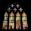 Stained glass window of Saint Etienne church in Paris — Stock Photo #10491467