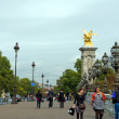 Stock Photo: Walking on bridge Pont Alexander III