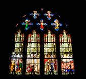 Vitrail de l'église saint-etienne de paris — Photo