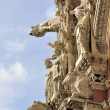 The living facade of Siena Cathedral — Stock Photo