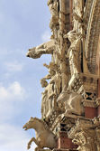 The living facade of Siena Cathedral — Foto Stock