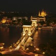 The view of the Chain Bridge by night — Stock Photo