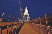 The new bridge called Megyeri at Budapet — Foto de Stock
