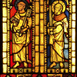 Stockfoto: Stained glass featuring St. Peter and St. Paul