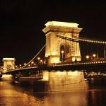 The Chain Bridge by night — Stock Photo
