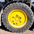 Stock Photo: Tire of forklift truck