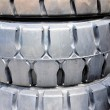 Stock Photo: Industrial tires