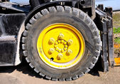 Tire of a forklift truck — Stock Photo