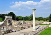 Roman ruins in Aquincum — Stock Photo