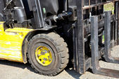 Used forklift truck — Stock Photo