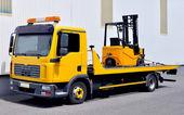 フォーク リフト トラックの輸送 — ストック写真