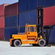 Container handling — Stock Photo