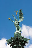 Sculpture of Gabriel archangel in Budapest — Stock Photo