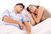 Couple sleeping — Stock Photo