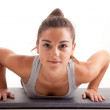 Stock Photo: Young fitness instructor