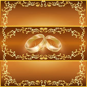 Wedding greeting or invitation card — Stock Vector