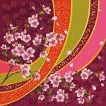 ������, ������: Japanese pattern with sakura blossom