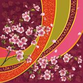 Japanese pattern with sakura blossom — Stock Vector