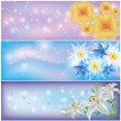 Set of horizontal floral banners — Stock Vector #10505616