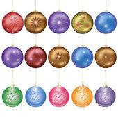 Noel topları kümesi — Stok Vektör