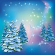 Winter background with fir-trees — Stock vektor #8266546
