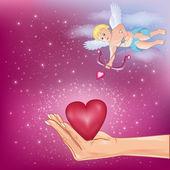 Reeks van kleurrijke hart voor valentijnsdag, bruiloft, verjaardag — Stockvector