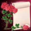 Royalty-Free Stock Vector Image: Greeting or invitation card with roses
