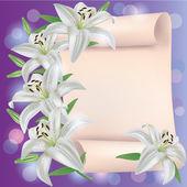 Zaproszenia karty z kwiatów lilii — Wektor stockowy