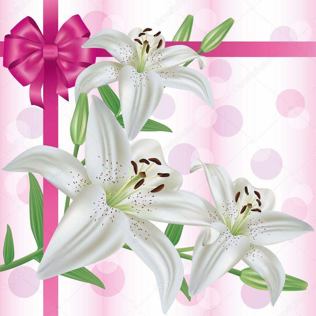 Открытки с днём рождения лилии красивые