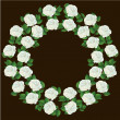 Ornament of white roses, element of design - Stockvektor