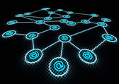 Network concept — Stock Photo