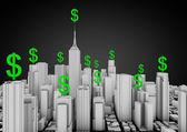 Finans şehri — Stok fotoğraf